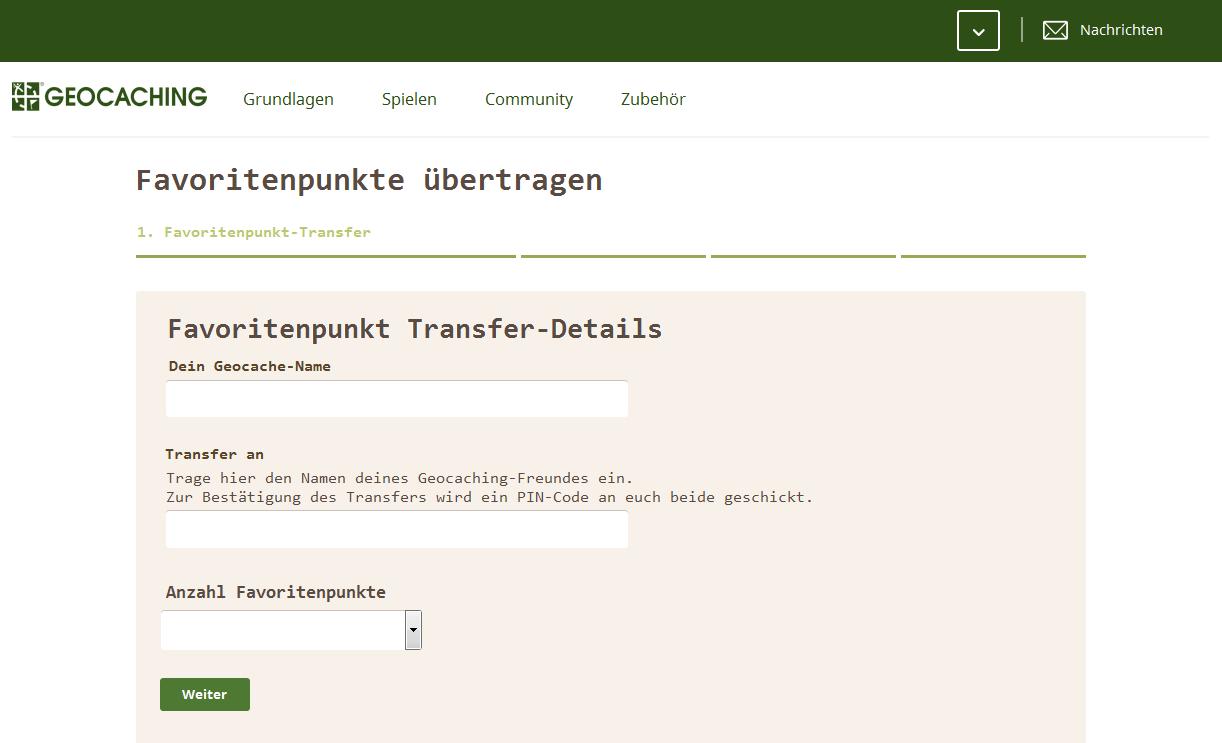 Transferformular